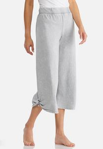 Tie Leg Athleisure Crop Pants
