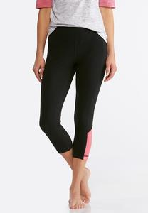 Cropped Pink Inset Leggings