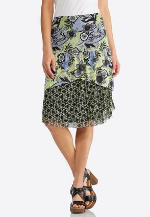 Floral Mix Mesh Skirt | Tuggl