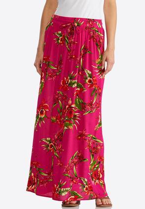 Gauze Orchid Maxi Skirt | Tuggl