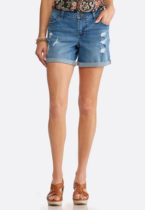 Distressed Denim Shorts | Tuggl