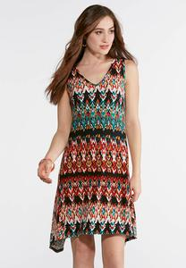 Plus Size Radiant Tribal V- Neck Dress