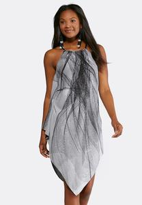 Braided Halter Trapeze Dress