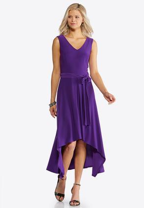 Tie Waist High-Low Dress | Tuggl