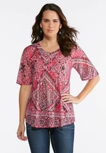 Berry Medallion Top