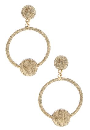 Metallic Thread Ball Hoop Earrings | Tuggl