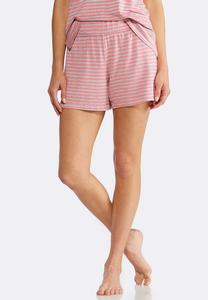 Striped Athleisure Shorts