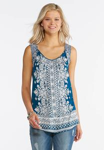 Printed Swing Sleeveless Top