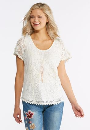 Dreamy Lace Crochet Top at Cato in Brooklyn, NY | Tuggl