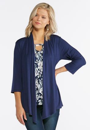 Plus Size Cardigan Layered Tank at Cato in Brooklyn, NY | Tuggl