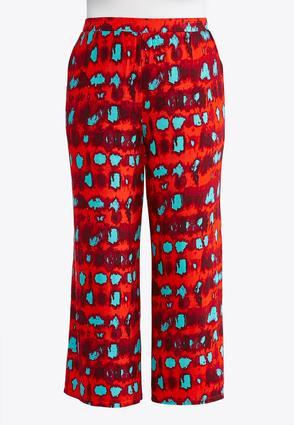 Plus Size Tie Dye Palazzo Pants | Tuggl