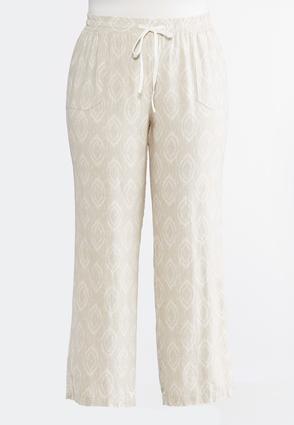 Plus Size Linen Drawstring Pants | Tuggl
