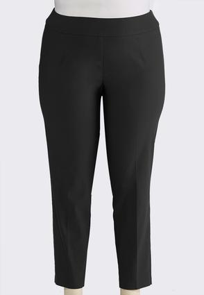 Plus Size Pull- On Solid Slim Pants