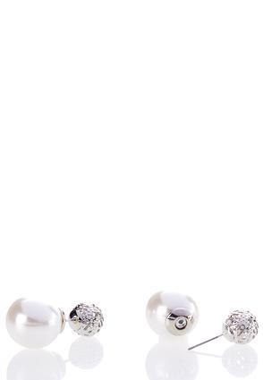 Pearl Back Silver Studs | Tuggl