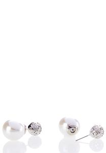 Pearl Back Silver Studs
