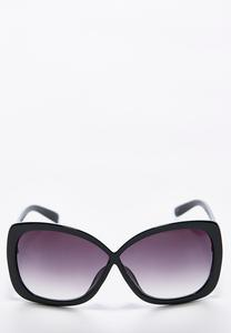Crossed Center Square Sunglasses