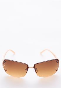 Tinted Rectangle Sunglasses