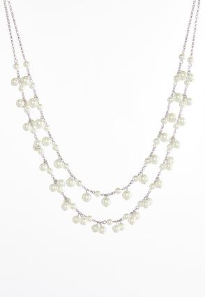 Shaky Pearl Layered Necklace | Tuggl