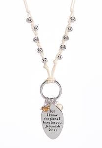 Jeremiah Inspirational Charm Necklace