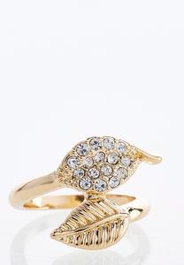 Double Gold Leaf Ring