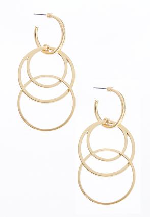Dangling Gold Link Hoops | Tuggl