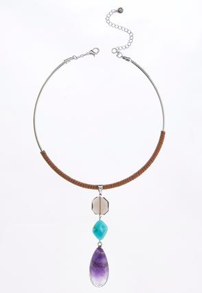 Suede Choker With Pendant
