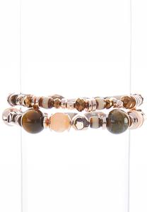 Earthy Bead Stretch Bracelet Set