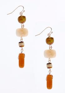 Mixed Bead Dangle Earrings