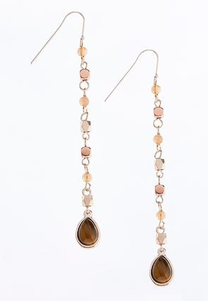 Linear Tear Shaped Bead Earrings | Tuggl