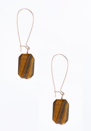 Natural Stone Dangle Earrings | Tuggl