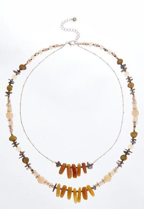 Tribal Layered Bead Necklace