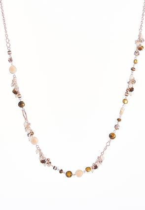 Earthy Bead Single Row Necklace | Tuggl