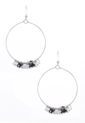 Dangling Shaky Bead Hoops