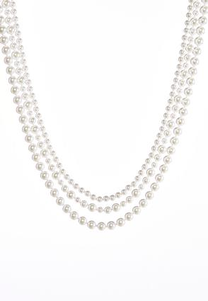 Faux Pearl Layered Necklace | Tuggl