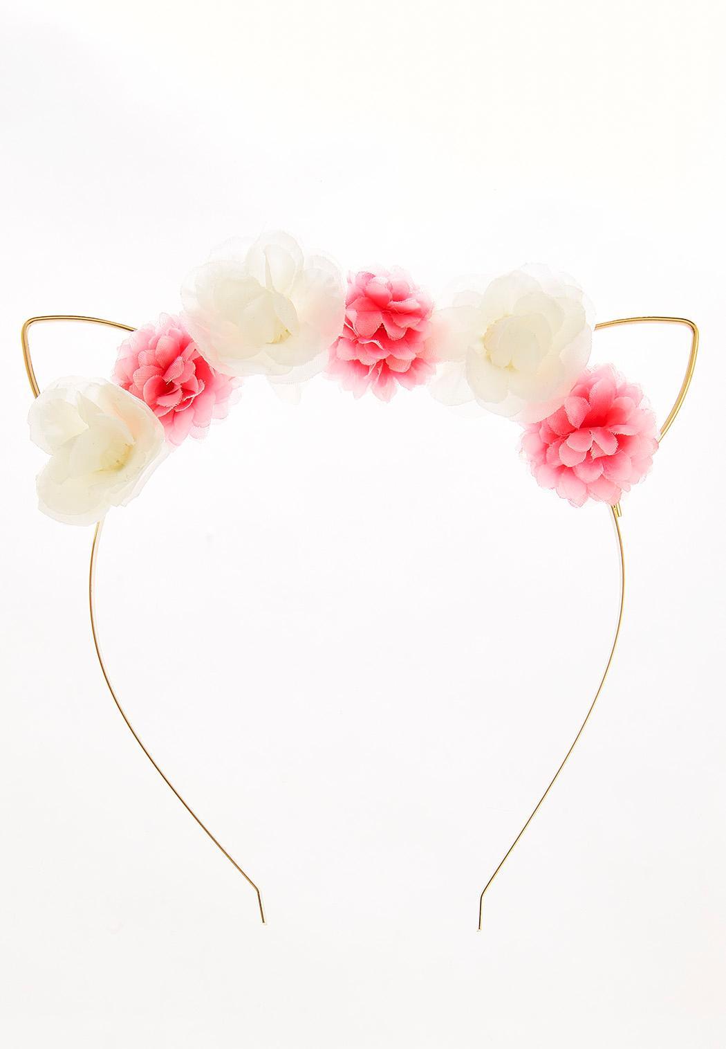 Flower Cat Ear Headband Hats & Hair Cato Fashions