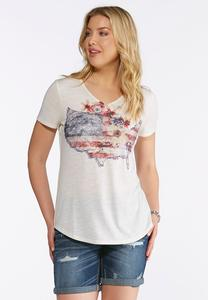 Plus Size USA Graphic Tee