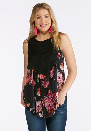 Blossoms And Lace Top