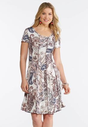 Seamed Paisley Corset Dress at Cato in Brooklyn, NY | Tuggl