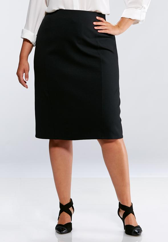 f26149a8c3 Plus Size Ponte Pencil Skirt Skirts Cato Fashions
