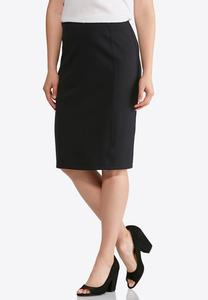 Plus Size Ponte Pencil Skirt