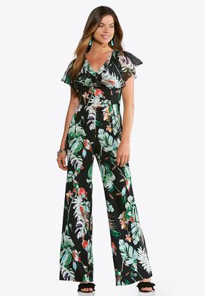 Tropical Print Jumpsuit | Tuggl