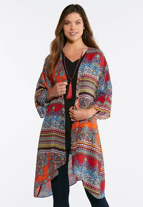 Plus Size Majestic Kimono Duster | Tuggl