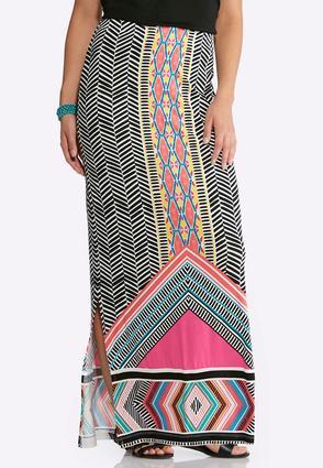 Multi Bright Maxi Skirt | Tuggl