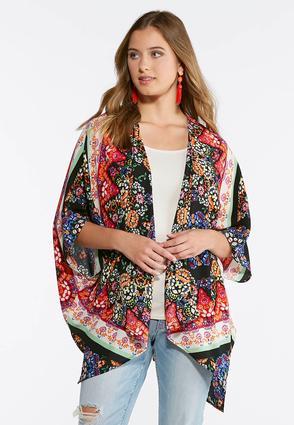 Crepe Floral Kimono | Tuggl