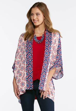 Contrast Bordered Kimono | Tuggl