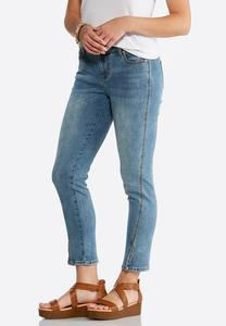 Forward Slit Seam Ankle Jeans