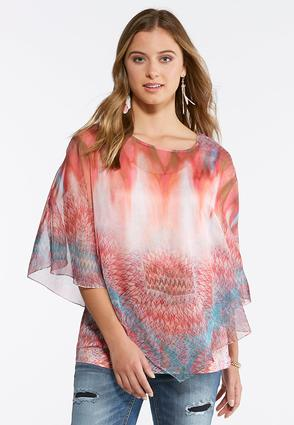 Sunrise Printed Capelet at Cato in Brooklyn, NY | Tuggl