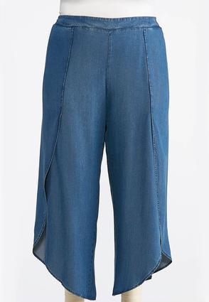 Plus Size Chambray Tulip Pants | Tuggl