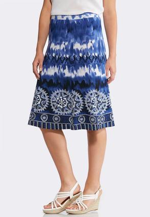 Tie Dye Puff Print Skirt | Tuggl