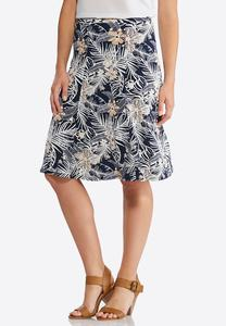 Tropical Puff Print Skirt